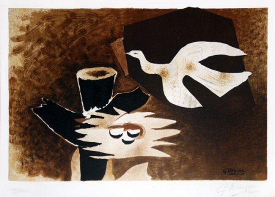 Georges Braque Lithograph, L'oiseau et son nid (The Bird and Its Nest)