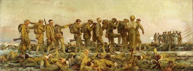 John Singer Sargent (1856–1925), Gassed, 1919, oil on canvas, Imperial War Museum, London. © Imperial War Museum (Art.IWM ART 1460).